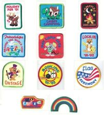 Girl Scout Patch Lot of 11 from 2001-2002 Flag Ceremony Day Camp Holiday & More