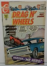 68 DRAG N WHEELS FORD DODGE CHARGER CHARLTON 1 #30 RACING VINTAGE OLD COMIC BOOK