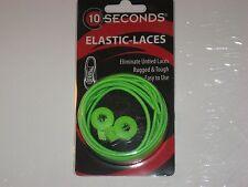 """Ten Seconds Elastic Stretch Shoelaces Shoe Laces Lock Lace Green 36"""" Unisex"""