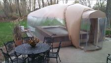Hot Tub Spa Cover Ameri-Dome Winter Inflatable Structure Vinyl Sample
