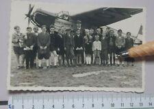 Hansa Flugdienst GERMANY AIRCRAFT AIRPLANE PHOTO POSTCARD passengers CHILDREN