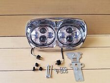 ROAD GLIDE  LED DUAL HEADLIGHT 5.75'' PROJECTOR DAYMAKER LAMP CHROME HOUSING