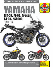 6333 Haynes Yamaha MT-09, Tracer and XSR900 2013 - 2016 Workshop Manual