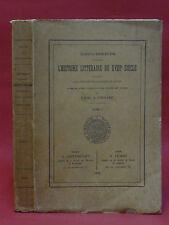HISTOIRE LITTÉRAIRE DU XVIIIe SIECLE - Abbé A. TOUGARD - Tome I - 1912