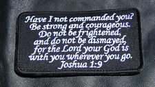 2PC  JOSHUA 1:9  ARMY COMBAT 4 INCH MORALE HOOK LOOP PATCH