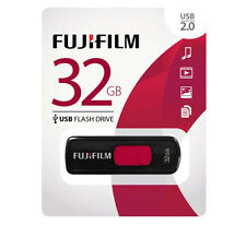 NEW Fujifilm 32GB USB 2.0 Flash Drives Capless Slider ~ 600012299