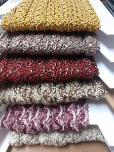 Polyester with Gimp detail Furnishing Braid 15mm wide - various colours - 2metre