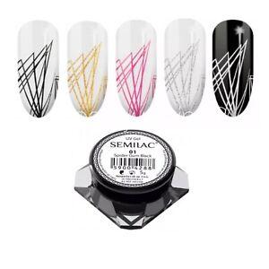 NEW SEMILAC Spider Gum Gel Polish 3D Design Nail Art UV LED 5g