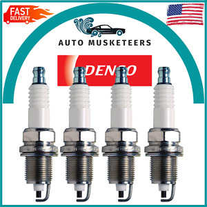 Pack of 4 Spark Plugs Denso For Buick Chevy Chrysler Dodge Plymouth Toyota