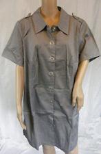 ★ 4Wards ★ Gr. 40 ~ Kleid Hemdblusenkleid Hemdkleid ~ grau ~ Stretch Twill ~ NEU