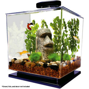 Tetra GloFish 3 Gallon Aquarium Kit with LED Lighting Included