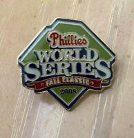 VINTAGE 2008 MLB PHILADELPHIA PHILLIES WORLD SERIES BASEBALL PRESS PIN - BALFOUR