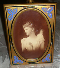 Victorian Antique Bronze Picture Frame 3x 4 inches