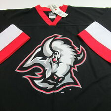 NWT VINTAGE Buffalo Sabres Hockey Jersey Logo Athletic NHL Black MENS XL