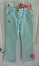 NWT Gymboree Tropical Garden Girls 10 Aqua Blue Seafoam Floral Pants Flowers New