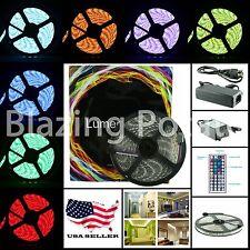 RGB 5M 5050 IP65 Waterproof Flexible 300 LED Strip Lights Kit 44 Key -White PCB-
