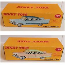 Dinky 178 Plymouth Plaza Empty Repro Box Only