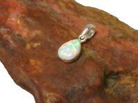 Weißer Opal Sterling Silber 925 Edelstein Anhänger