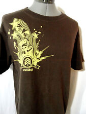 ANALOG Army Stars T-Shirt mens M Brown graphic Short Sleeve Crew neck Military