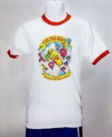 Great Mello Yello Sky Show Balloon Tab, Sprite Ringer T-shirt vtg 1980's white