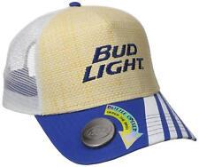 Budweiser Bud Light Beer Men's Bottle Opener Straw Trucker Hat Cap