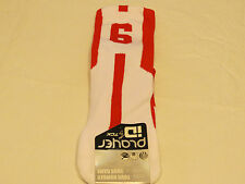 Player ID by TCK PCN LG # 6 TWI 1 sock white red vollyball basketball soccer