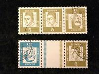 Bund BRD ab 1961 -MiNr. 347 + 350  Bedeutende Deutsche, 5 + 10 (Pf)