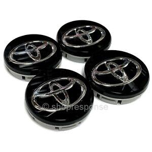 JDM Toyota 86 ZN6 Black Center Wheel Caps Fits 13-16 Scion FRS Toyota 86 GT86