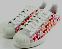 Adidas Women's Superstar II Hearts $90 Casual Sneakers Size 9.5 White