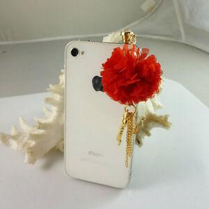 3.5mm Anti dust Plug stopper flower Charm Ear Cap iphone/ipad Ear cap Dock Cover