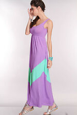 Pack Wedding Bridal Summer Chevron Stripe Long Tank Beach Long Maxi Dress