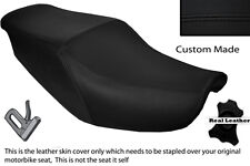 BLACK STITCH CUSTOM FITS HONDA CBR 1000 F 87-88 DUAL LEATHER SEAT COVER