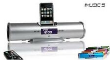 iMusic Speaker + FM Radio + LCD Alarm Clock for iPhone 3G - iPhone 4 - iPod