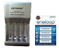 AA/AAA FAST 509 BATTERY CHARGER + 4 x AA ENELOOP RECHARGEABLE BATTERIES 2100 CHA