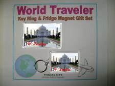 """I Love India"" Key Ring & Fridge Magnet Gift Set"