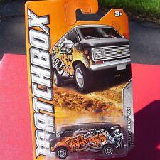 "1975 Chevy Van ""CAN'T DRIVE 55""  Matchbox 2012 #81 Black with Skull NEW-MIB!"