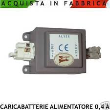 CARICABATTERIE ANTIFURTO ALIMENTATORE 13,8 Vcc. 0,4 A. ADATTO x BATTERIE TAMPONE