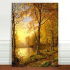 "William Trost Richards Autumn Forest ~ FINE ART CANVAS PRINT 16x12"""