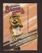 Gwinnett Braves--2015 Pocket Schedule--Delta Community Credit Union