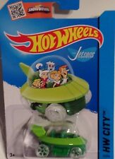 Mattel 2015 Hot Wheels The Jetsons Capsule Car HW City 57/250 Green NIP
