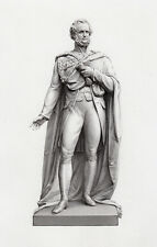 "Serious MATTHEW NOBLE 1800s Engraving ""Edward Geoffrey Smith-Stanley"" Framed COA"
