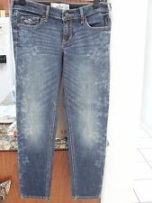 NWT Womens HOLLISTER  DENIM JEANS Size 5 SUPER SKINNY ANKLE W27/27 Floral