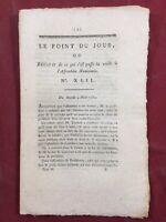 Rare Déclaration Droit de l'homme 1789 Assemblée Nationale Le Point du Jour