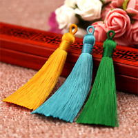 2Pcs 8cm Ice Silk Fat Tassel Trim Jewelry Making DIY Key Chian Pendant 22 Colors