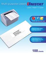 LABEL UNISTAT LASER/INKJET/COPIER 8UP 105X74 38934 BX100