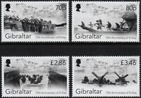WWII D-DAY LANDINGS 75th Anniversary £7.82 FV MNH Stamp Set (2019 Gibraltar)