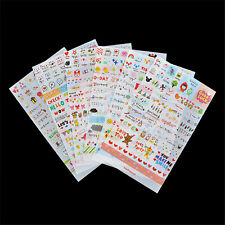 6 Sheets Fashion Word Expression Diary Album Sticker Calendar Card Scrapbooking