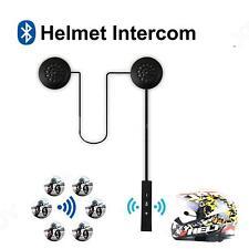 Motorcycle Intercom Hands-free Headset Wireless Bluetooth Headphone W/ Mic D4Q6