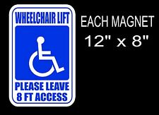 MAGNETIC MAGNET WHEELCHAIR VAN LIFT DONT BLOCK SIGN DECAL