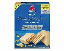 Atkins Lemon Vanilla Protein Wafer Crisps 180g - 5 Bars, Low Carb, No Sugar